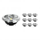 Multipack 10x Noxion Lucent LED Spot AR111 G53 Pro 12V 12W 930 40D| Hoogste Kleurweergave - Dimbaar - Vervanger voor 50W