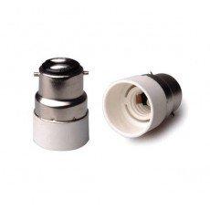 Adapter for lampholders B22 => E14 White
