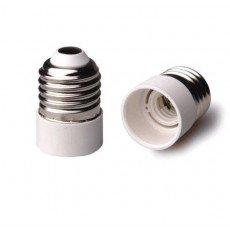 Adapter for lampholders E27 => E14 White