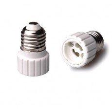 Adapter for lampholders E27 => GU10 White