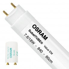 Osram SubstiTUBE Value EM 7.6W 840 60cm   Cool White - incl. LED Starter - Replaces 18W