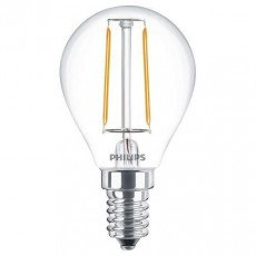 Philips Classic LEDluster E14 P45 2W 827 Helder | Vervangt 25W