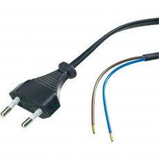 Euro cable 2x 0.75 Zwart