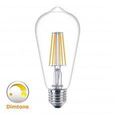 Philips Classic LEDBulb DimTone 8-60W 827 E27 Clear ST64 Dimbaar