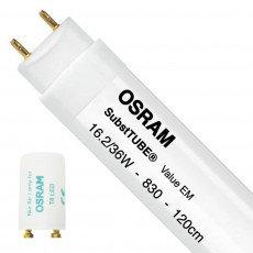 Osram SubstiTUBE Value EM 16.2 830 120cm | Warm White - incl. LED Starter - Replaces 36W