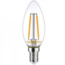 Noxion Lucent Filament LED Candle B35 E14 2.7W 827 | Dimbaar - Vervangt 25W
