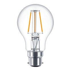Philips Classic LEDbulb B22 A60 4W 827 Helder | Extra Warm Wit - Vervangt 40W