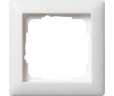 Gira 021104 - Cover Frame 1-gang Pure Wit matt Standard 55