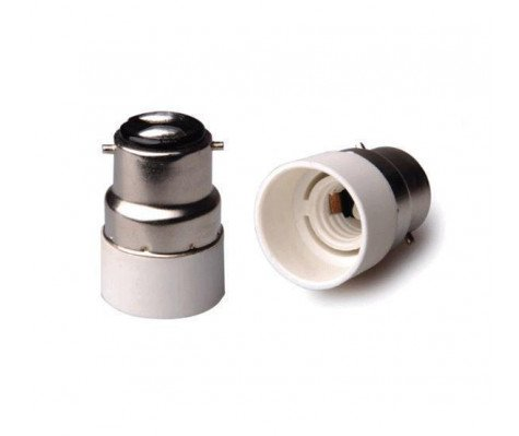 Adapter for lampholders B22 => E14 Wit