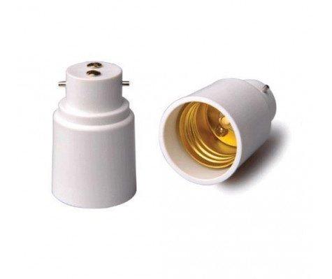 Adapter for lampholders B22 => E27 White