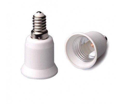Adapter for lampholders E14 => E27 White