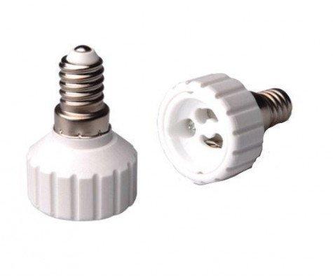 Adapter for lampholders E14 => GU10 White