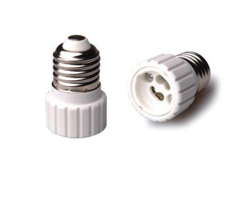 Adapter for lampholders E27 => GU10 Wit