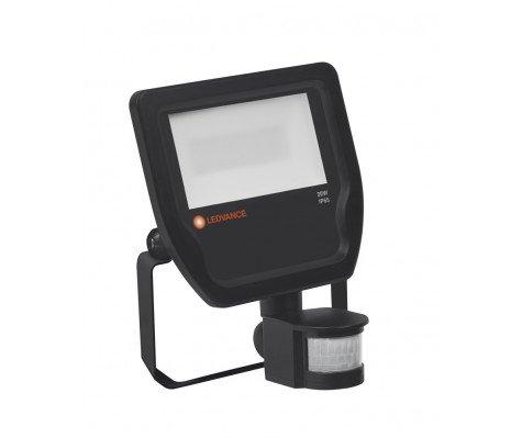 Ledvance LED Breedstraler 20W 3000K 2200lm IP65 Zwart | met Sensor - Vervangt 50W