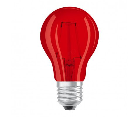 Osram LED STAR DECO Classic A Color E27 2.5W Rood Helder | Vervangt 15W