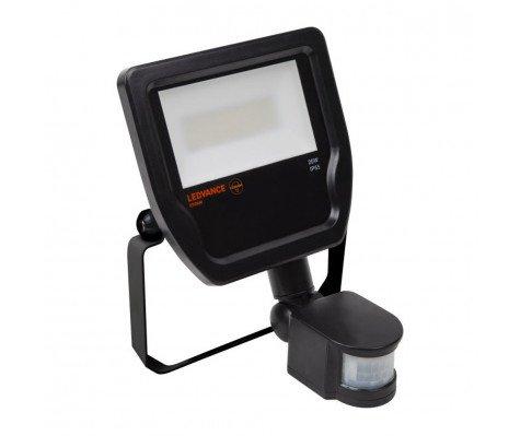 Ledvance LED Breedstraler 20W 4000K 1900lm IP65 Zwart | met Sensor - Vervangt 50W