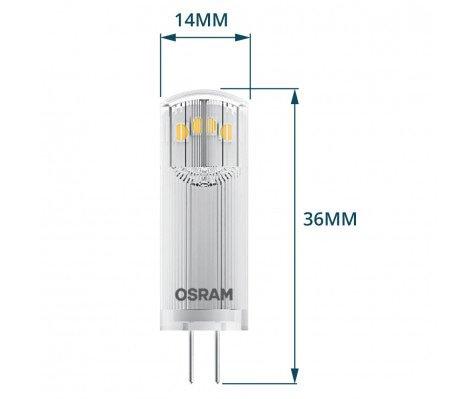 Osram Parathom Pin G4 1.8W 827 Helder   Vervangt 20W