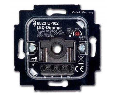 Busch-Jaeger 6523U-102 LED Dimmer 6512-0-0334 2-100W 50/60Hz Insert