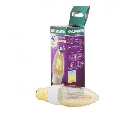 Sylvania ToLEDo RETRO Candle 4,5W 260lm golden Dim 1700K B22