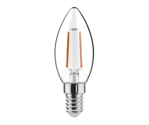 Noxion Lucent Kooldraad LED Candle 2.5W 827 B35 E14 Helder | Dimbaar - Vervanger voor 25W