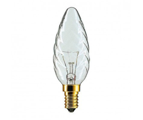 Philips Incandescent Twisted Candle 40W E14 230V BW35