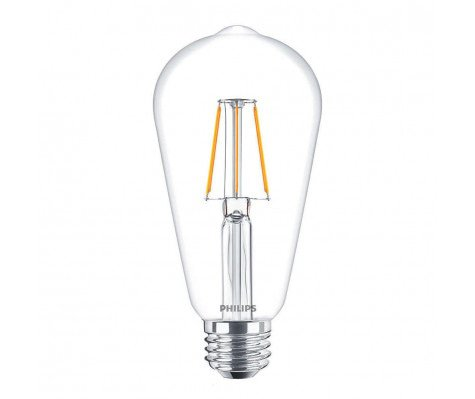 Philips Classic LEDBulb 4-40W 827 E27 Clear ST64