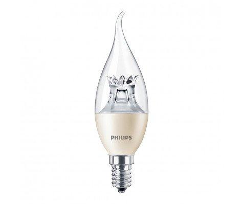 Philips LEDcandle E14 BA38 6W 827 MASTER | DimTone Dimbaar - Vervangt 40W