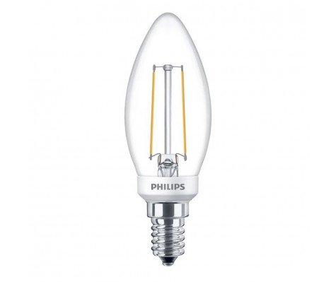 Philips Classic LEDCandle 2.7-25W 827 E14 Clear Dimbaar