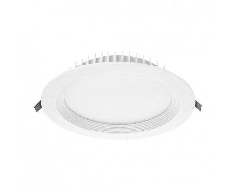 Noxion LED Downlight Bora IP44 24W 4000K Cutout Ø200mm Frame Ø225 - 0-10V dimm.