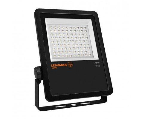 Ledvance LED Breedstraler 150W 4000K 15000lm IP65 Zwart | - Vervangt 400W