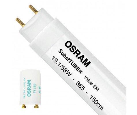 Osram SubstiTUBE Value EM 19.1W 865 150cm | Daylight - incl. LED Starter - Replaces 58W
