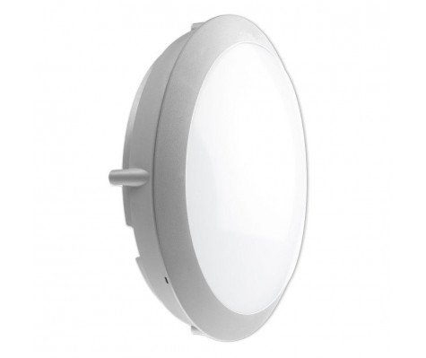 Noxion LED Bulkhead Core Wall/Ceiling 13W 4000K Grey Round Sensor Ø301mm (2x18W eqv.)