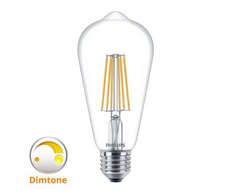 Philips Classic LEDbulb E27 Edison 8W 827 Helder | DimTone Dimbaar - Vervangt 60W