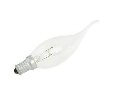 GlobalLux Candle Bent Tip E14 15W 230V clear