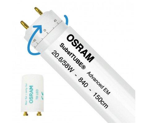 Osram SubstiTUBE Adv T8 - 20.6W 840 150 cm Roteerbaar - incl. starter