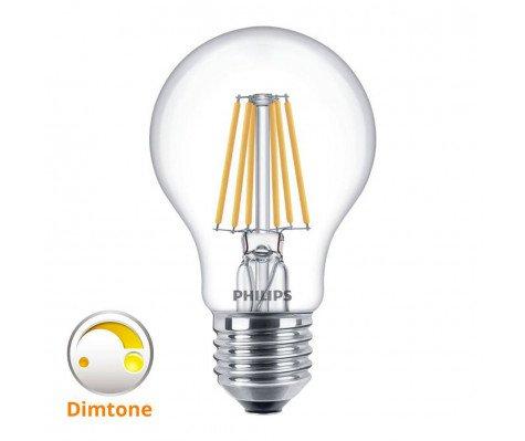 Philips Classic LEDBulb DimTone 8-60W 827 E27 Clear Dimbaar