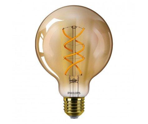 Philips Vintage LEDGlobe E27 G93 5W 820 Goud - Vervangt 25W Gloeilamp