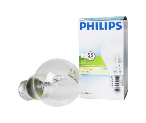 Philips EcoClassic 42W E27 230V A55 Helder