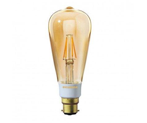 Sylvania ToLEDo Retro Edison B22 ST64 5.5W 1700K | Magmaglow - Dimbaar - Vervangt 35W