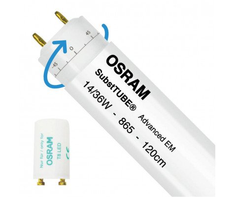 Osram SubstiTUBE Advanced EM 14W 865 120cm | Daylight - incl. LED Starter - Replaces 36W - Rotatable