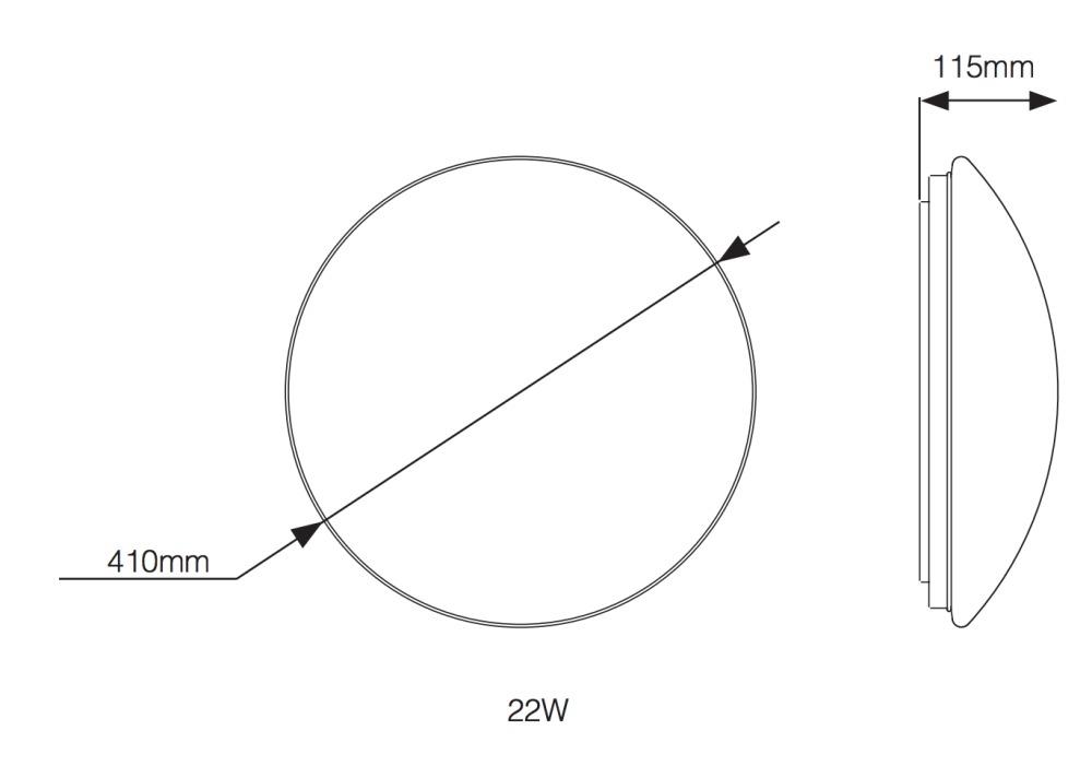 Noxion LED Wandlamp Corido IP44 4000K 22W | met Sensor - Vervangt 2x26W