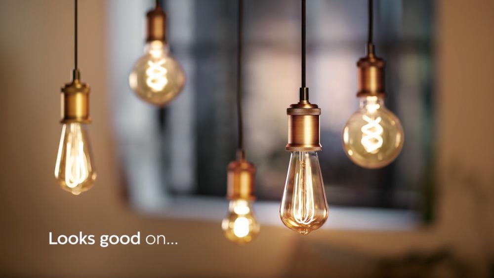 Philips Classic LEDbulb Vintage E27 Edison 5W 820 Goud   Vervangt 25W