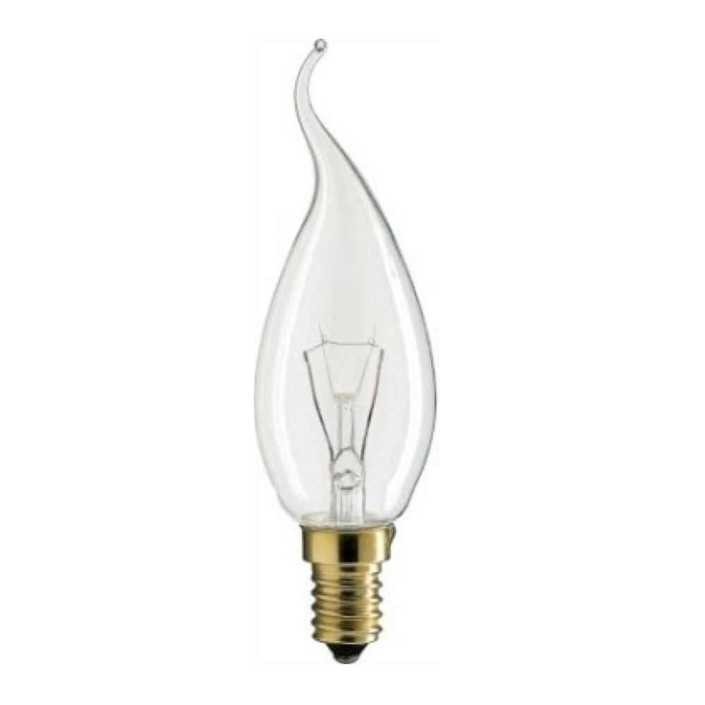 Philips Incandescent Bent-Tip Candle 25W E14 230V BXS35